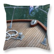 Bow And Chain  Throw Pillow