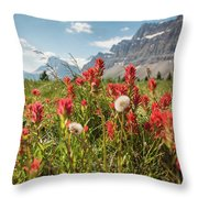 Bow Flowers Throw Pillow
