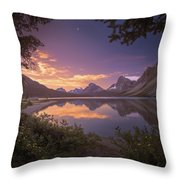 Bow Lake At Dawn Throw Pillow