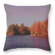 Bow Lake New Hampshire Autumn Colors Throw Pillow
