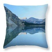 Bow Lake Panorama Throw Pillow