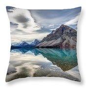 Bow Lake Sky Throw Pillow