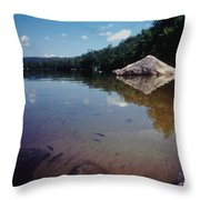 Bow Lake Tranquility Throw Pillow