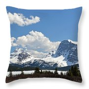 Bow Lake Vista Throw Pillow