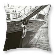 Bow Of The Boat Throw Pillow