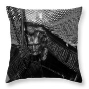 Bow Of The Captain Miranda Throw Pillow