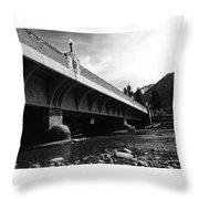 Bow River Bridge  Throw Pillow