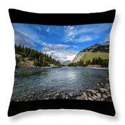 Bow River Alberta Throw Pillow