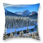 Bow River Valley View Throw Pillow