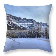 Bow Valley Castle Cliffs Throw Pillow
