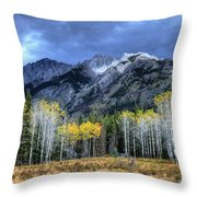 Bow Valley Parkway Banff National Park Alberta Canada II Throw Pillow