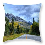 Bow Valley Parkway Banff National Park Alberta Canada Vi Throw Pillow