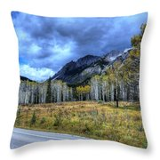 Bow Valley Parkway Banff National Park Alberta Canada Throw Pillow