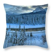 Bow Valley River Giant Panorama Throw Pillow