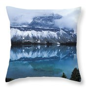 Bow Valley Storm Throw Pillow