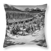 Morant's Curve Black And White Throw Pillow