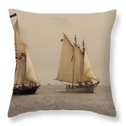 Bowditch And American Eagle Good Wind Throw Pillow