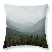 Bowen Mountain In Summer Storm Throw Pillow