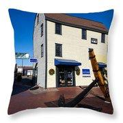 Bowen's Wharf Newport Rhode Island Throw Pillow