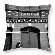 Bowery Mission Throw Pillow