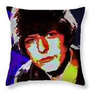 Bowie 60s Fringe  Throw Pillow