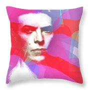 Bowie 70s Chic  Throw Pillow