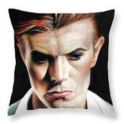Bowie Thin White Duke Throw Pillow
