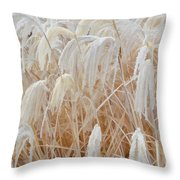 Bowing To Snow Throw Pillow