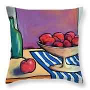 Bowl Of Apples Throw Pillow