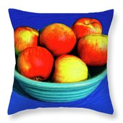 Bowl Of Apples Throw Pillow