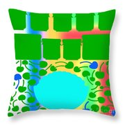 Bowl Of Cherries 3 Throw Pillow