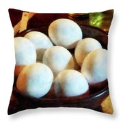 Bowl Of Eggs Throw Pillow