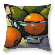 Bowl Of Fruit 4 Throw Pillow
