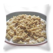 Bowl Of Oatmeal Throw Pillow
