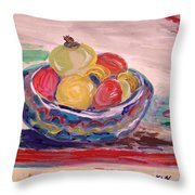 Bowl On A Red Edge Throw Pillow