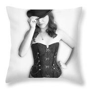 Bowler And Corset Throw Pillow