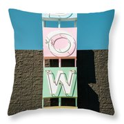 Bowling Alley Sign Throw Pillow by Bryan Mullennix