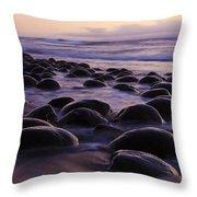 Bowling Ball Beach California 2 Throw Pillow
