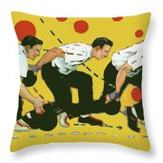 Bowling Lesson Throw Pillow