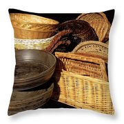 Bowls And Baskets Throw Pillow