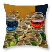 Bowls Full Of Color Throw Pillow