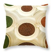 Bowls Of Spices - India Throw Pillow