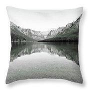 Bowman Lake - Glacier National Park 2 Throw Pillow