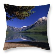 Bowman Lake Throw Pillow
