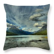 Bowman Lake Montana Throw Pillow