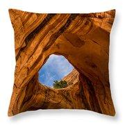 Bowtie Arch Near Arches National Park - Utah Throw Pillow