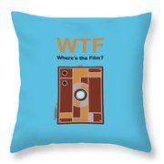 Box Brownie Throw Pillow