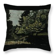 Box Elder Tree Throw Pillow