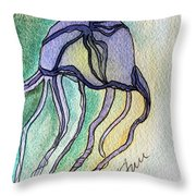 Box Jellyfish Throw Pillow