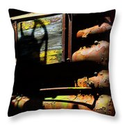 Boxcar Past Its Time Throw Pillow